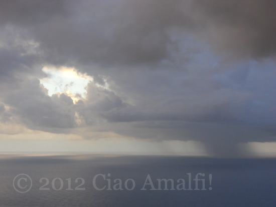 September Rain Storm on the Amalfi Coast