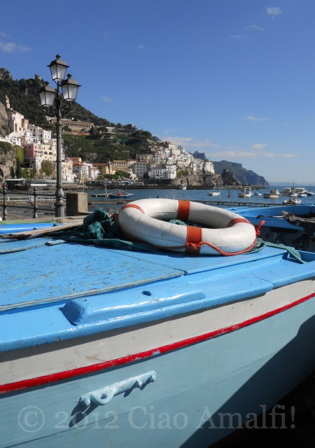 Amalfi Coast Fishing Boat Harbor - Laura Thayer