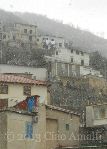 Snowflakes on the Village Amalfi Coast