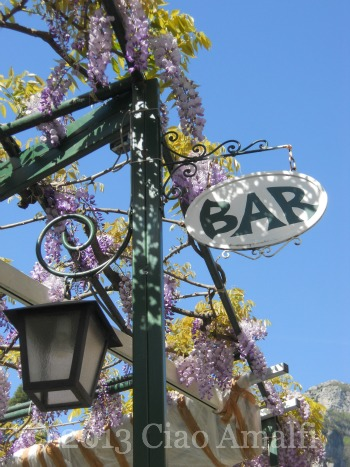 Ciao Amalfi Coast Travel Positano Wisteria Bar
