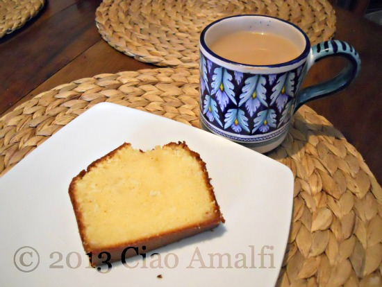 Ciao Amalfi Coast Travel Recipe Lemon Pound Cake with Tea