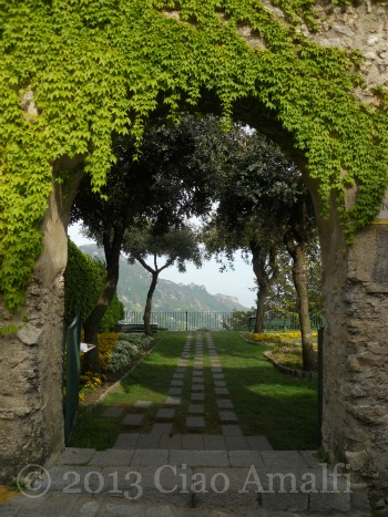 Ciao Amalfi Coast Travel Ravello Garden Entrance