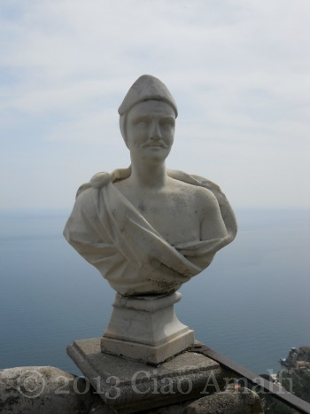Ciao Amalfi Coast Travel Ravello Villa Cimbrone Statue Terrace of Infinity