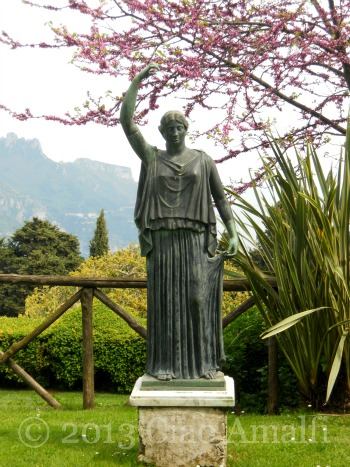 Ciao Amalfi Coast Travel Ravello Villa Cimbrone Statue View