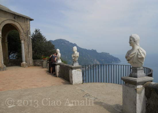 Ciao Amalfi Coast Travel Ravello Villa Cimbrone Terrace of Infinity