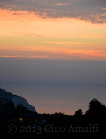Ciao Amalfi Coast Travel Pastel Sunrise Pink Sea