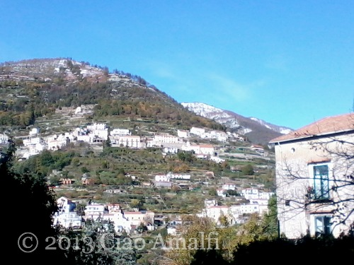 Ciao Amalfi Coast Travel November Snow from Ravello