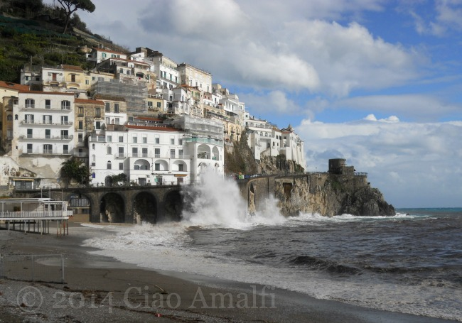Amalfi Coast Travel Stormy Weather Marina Grande Beach Amalfi