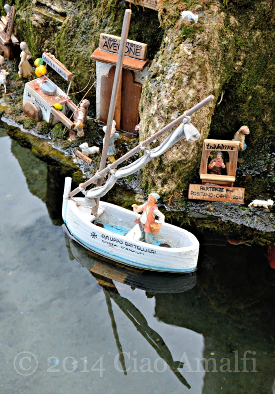 Amalfi Coast Travel Christmas Nativity Fountain