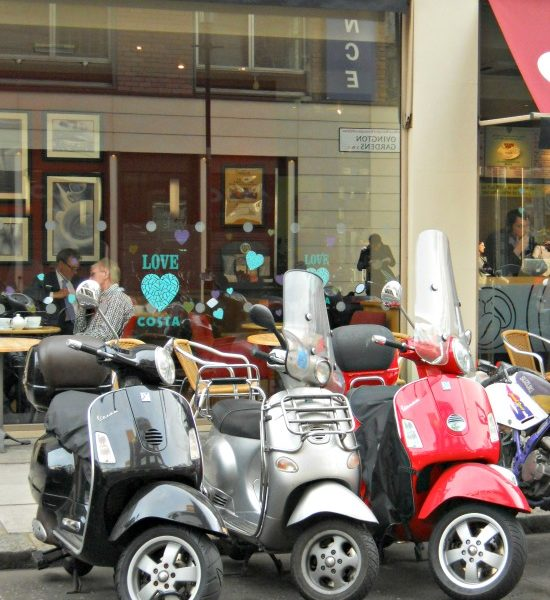 Amalfi Coast Travel Vespas in London