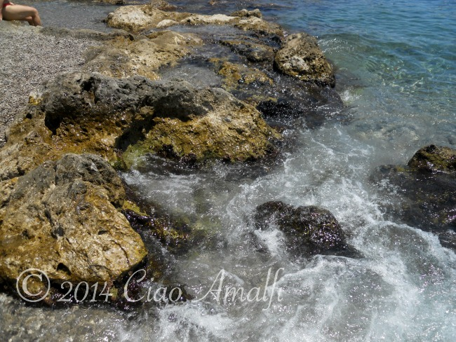 Beautiful Rocky Beach on the Amalfi Coast