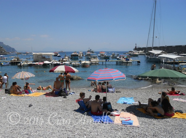 Family Friendly Beach on the Amalfi Coast