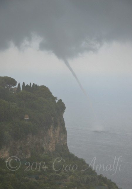 Laura Thayer Amalfi Coast Summer Storm Waterspout