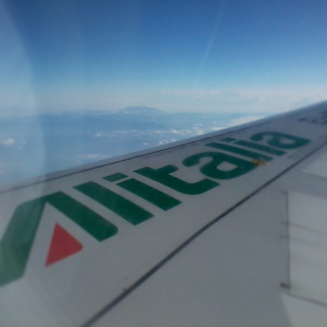 Off to the Cornhusker state! #flying #alitalia #blueskies
