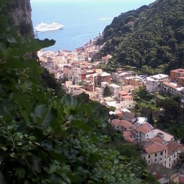 Looking down on #Amalfi from above during a walk yesterday. #amalficoast #italy #hiking #cruise