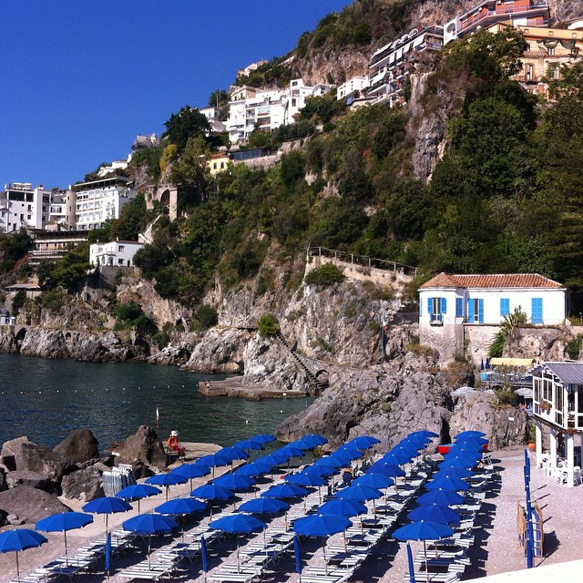 Ah...yes...that will do! Enjoyed some time at Lido delle Sirene in #Amalfi this morning. #AmalfiCoast #beach #italy #ig_amalficoast #summer