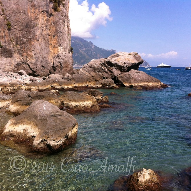 Amalfi Coast Travel Santa Croce Beach Rocks