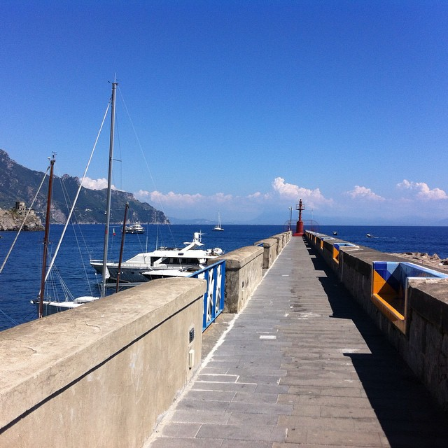 A sweet spot for an afternoon walk in #Amalfi. When you get to the light at the end there's a fabulous view of the harbor and Amalfi. #AmalfiCoast #italy #travel