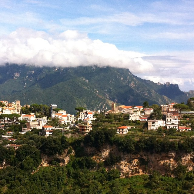 #Ravello is wearing a cloud hat today. #AmalfiCoast