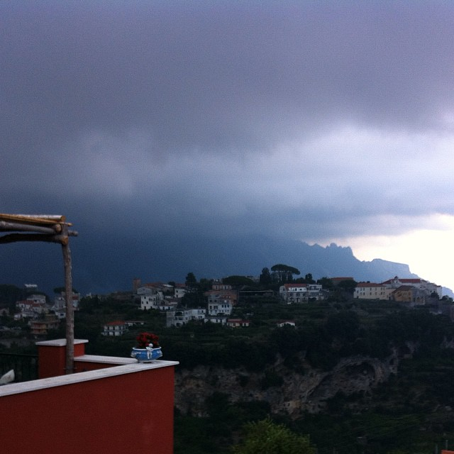 The wind blows and the sky grumbles. Something wicked this way come... #AmalfiCoast #storms