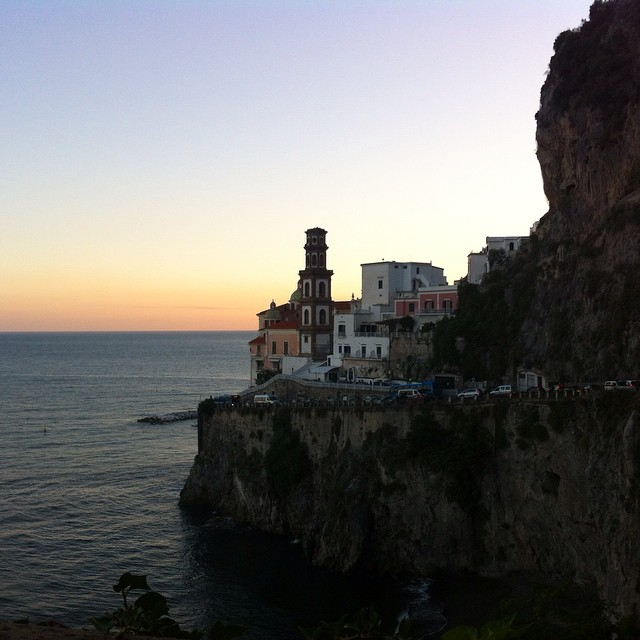 Sunset in #Atrani this evening. Beautiful view while stuck in traffic! :) #AmalfiCoast #ig_amalficoast #sunset #italy #browsingitaly