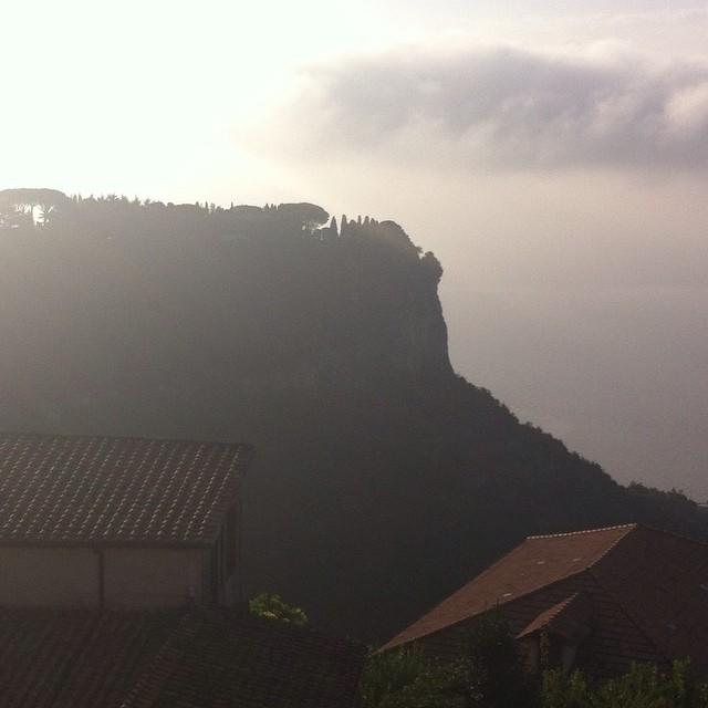 Villa Cimbrone in silhouette. #Ravello #AmalfiCoast #hazy #sunshine