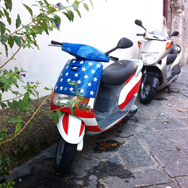Happy Labor Day to my American family and friends celebrating today! I found something with American spirit on my evening walk. #laborday #AmalfiCoast #scala #italy