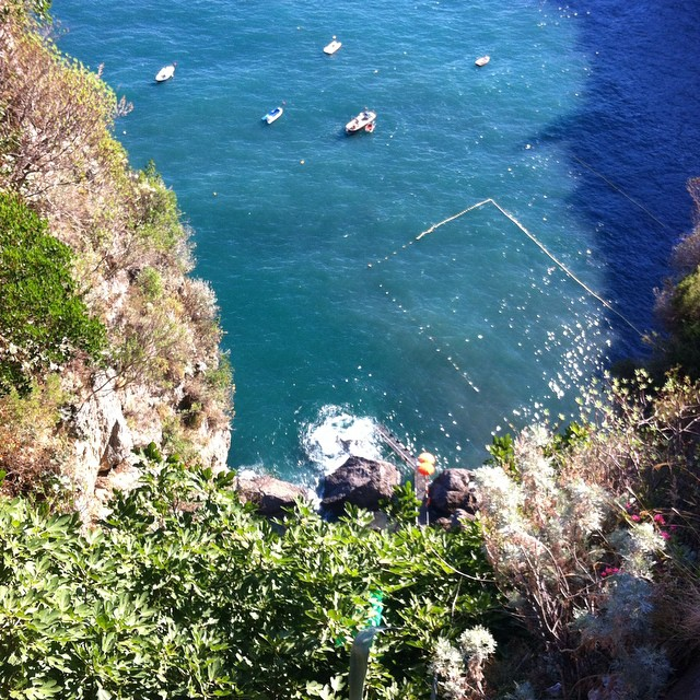 Way down there is Santa Croce - my favorite beach on the #AmalfiCoast. #ig_amalficoast #beach #mare