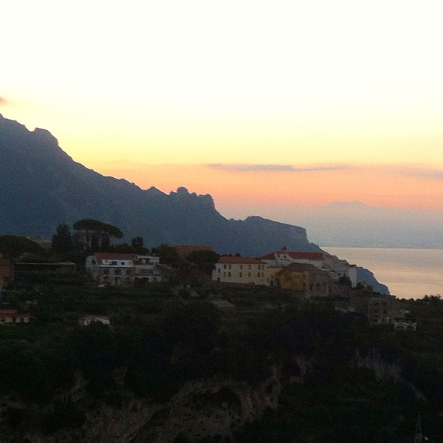 Shhhh...the old man of the mountain is still sleeping. Do you see him? #Ravello #AmalfiCoast #landscapefaces #sunrise #italy