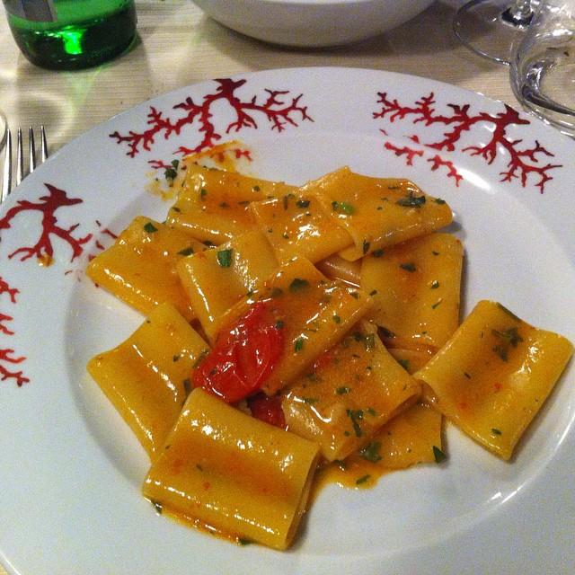 Paccheri con lo scorfano at Ristorante Lo Smeraldino. #AmalfiCoast #yum #latergram