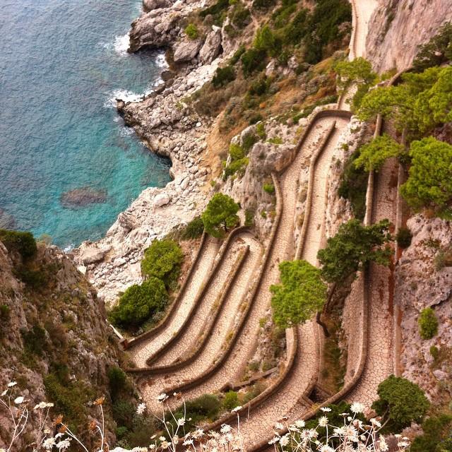 Via Krupp in #Capri.