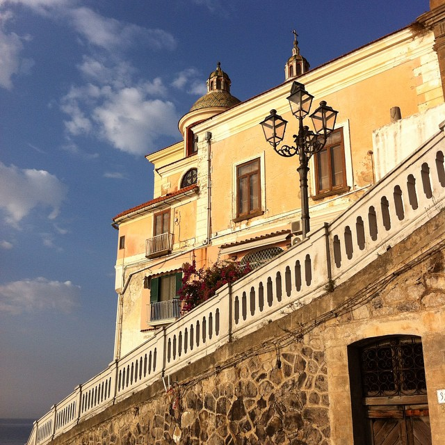 The ups and downs of life on the #AmalfiCoast. Morning glow in #Atrani. #traveldeeper #Italy #nofilter