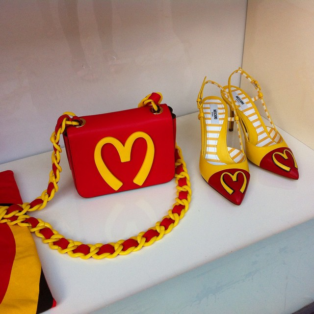 These made me laugh at Moschino in #Capri.