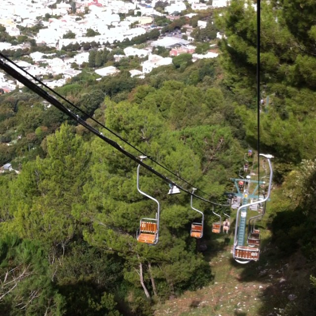 On the chairlift down from Monte Solaro in Anacapri. #Capri