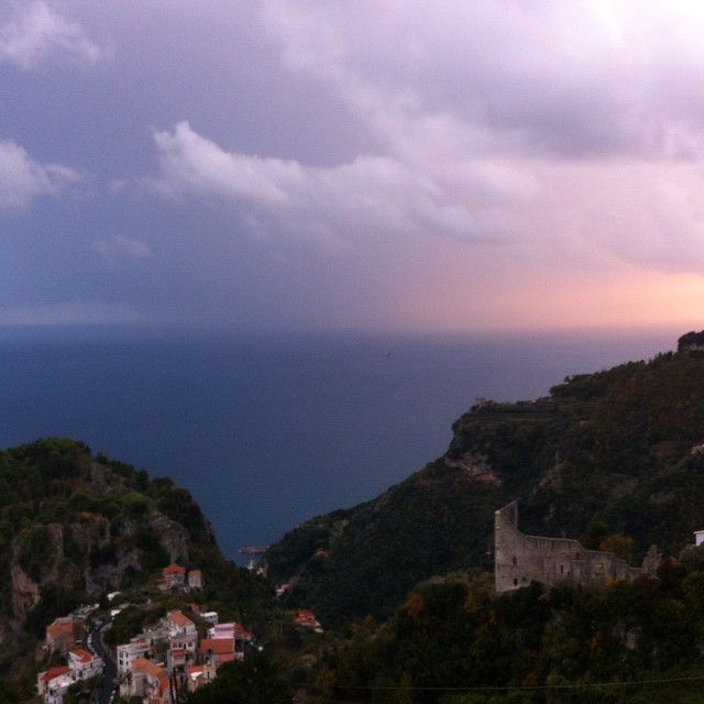 Storm + sunset. #AmalfiCoast