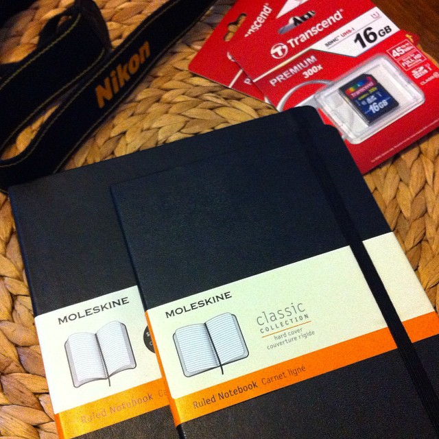 Oh the endless creative possibilities! #writing #photography #blankslate @moleskine_world