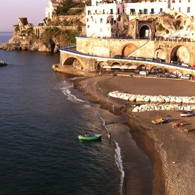 Morning fishing boat in #Atrani. #latergram #AmalfiCoast