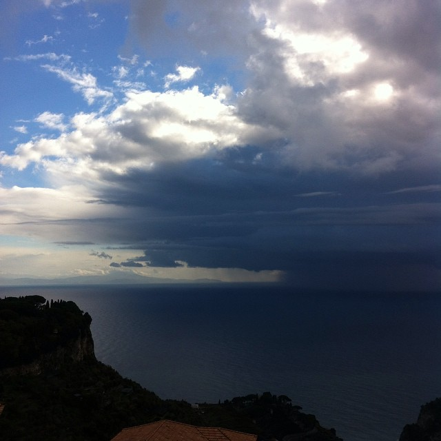 Today's forecast for the #AmalfiCoast: passing rain showers.