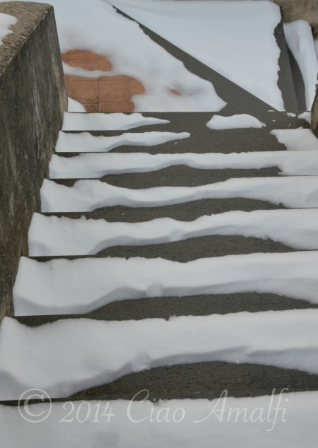 Amalfi Coast Travel Snowy Steps