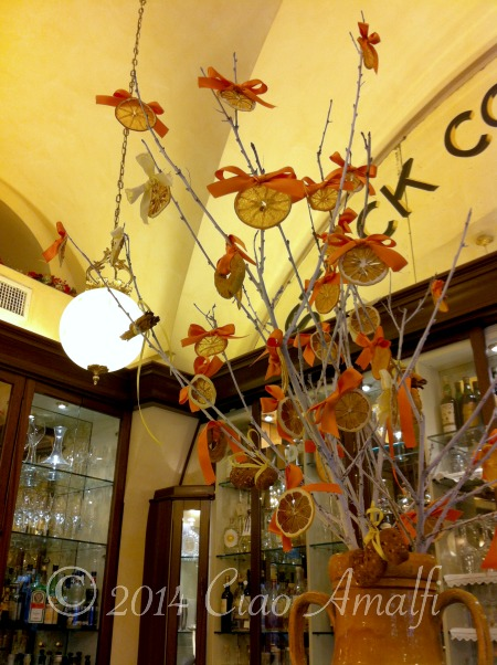 Ciao Amalfi Coast Travel Pasticceria Pansa Christmas Decorations
