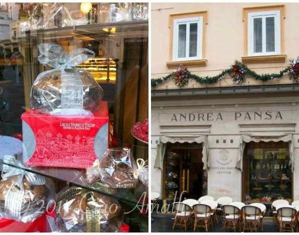 Christmas Sweets at Pansa in Amalfi