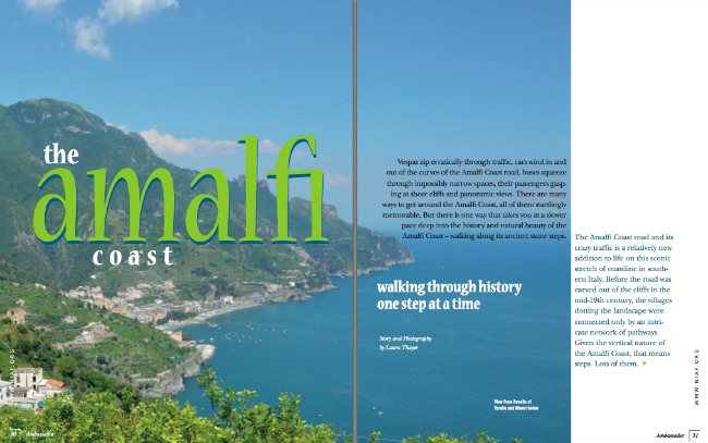 NIAF Ambassador Magazine The Amalfi Coast