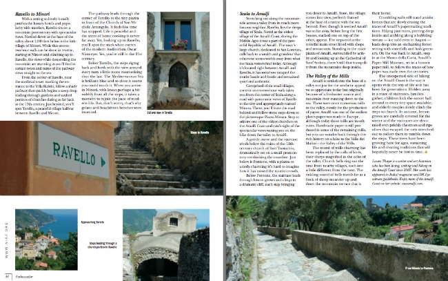 NIAF Ambassador Magazine The Amalfi Coast Hiking
