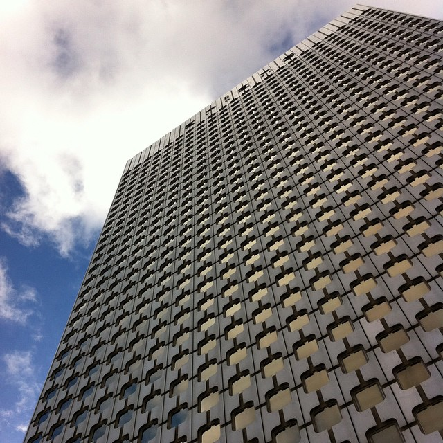 Looking up in La Défense. Such a different Paris than I've ever seen, but no less striking. #Paris #latergram