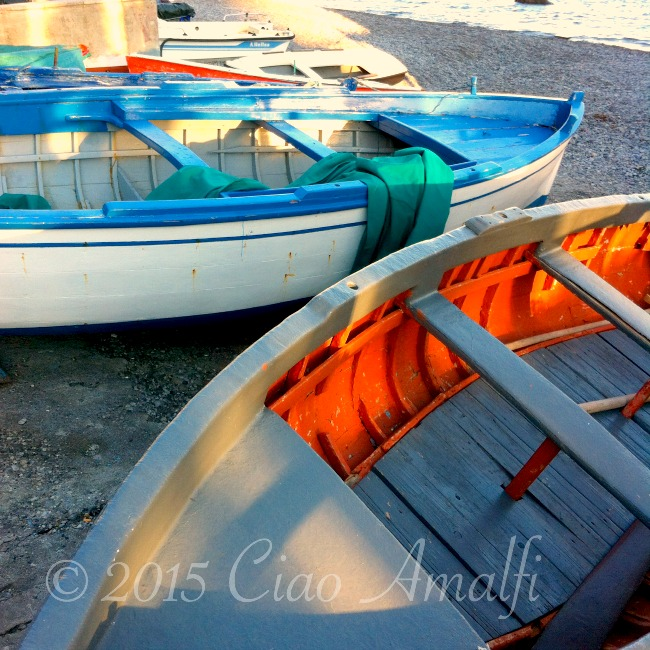 Amalfi Coast Travel Beach Boats Fishing