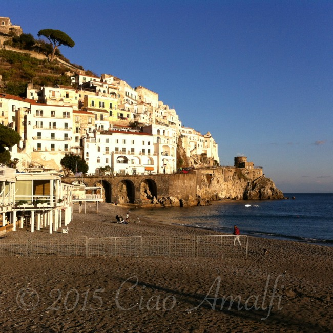 Amalfi Coast Travel Sunset Winter in Amalfi