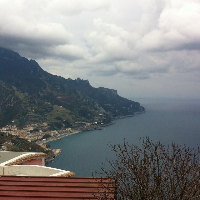 Winter grey has returned. Such a heavy sky! #amalficoast #ravello #winter #inverno #italy