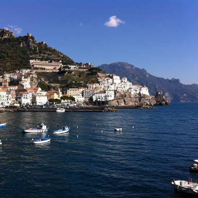 My blue heaven ... Amalfi. More photos up on the blog! Check out the link in my profile. #amalfi #amalficoast #italy #nofilter