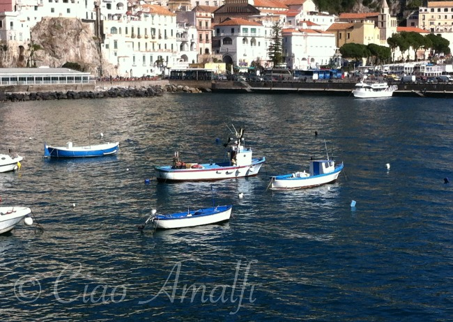 Amalfi Coast Travel Fishing Boats