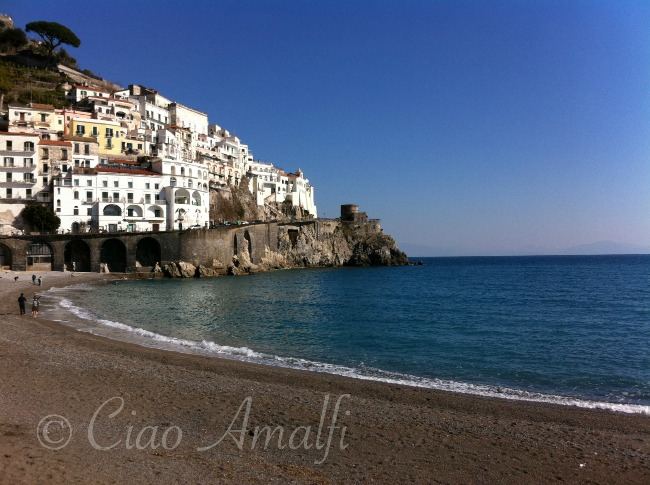 Amalfi Coast Travel Winter Blue Amalfi